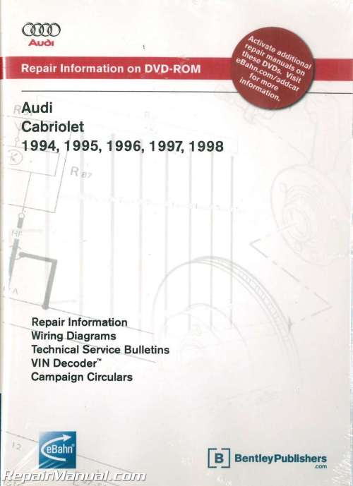 small resolution of audi cabriolet 1994 1998 repair manual on dvd rom audi 80 cabriolet wiring diagram audi cabriolet wiring diagram