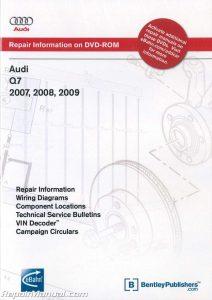 Audi Q7 20072009 Repair Manual on DVD ROM