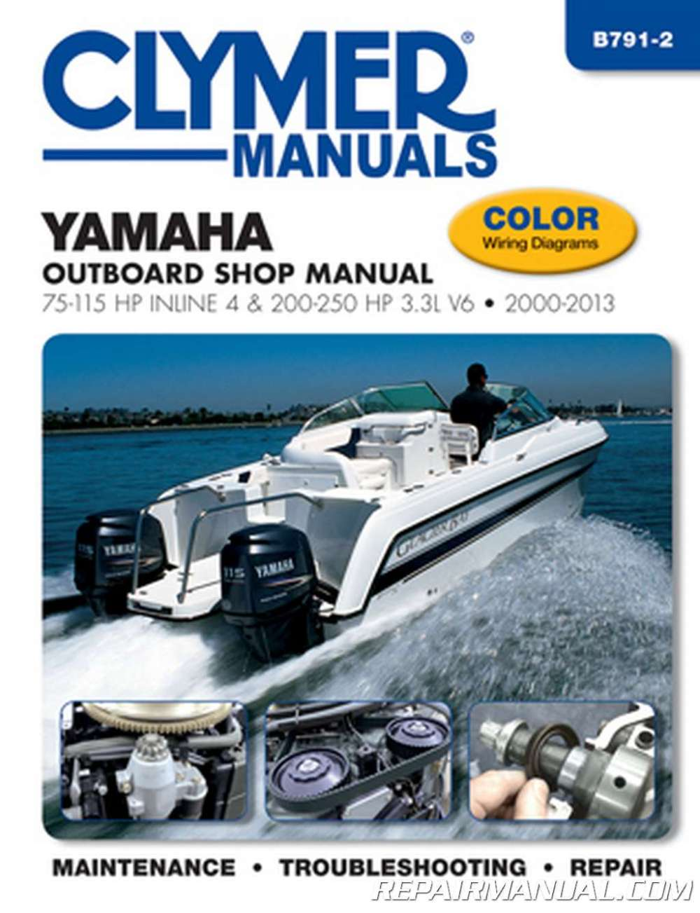 medium resolution of 2000 2013 yamaha outboard shop manual 75 115 hp inline 4 and 200 250 hp 3 3l v6