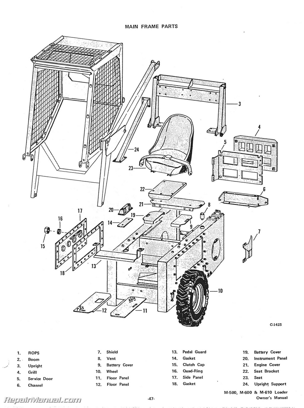 Skid Steer Case 1845c Parts Diagram. Images. Auto Fuse Box