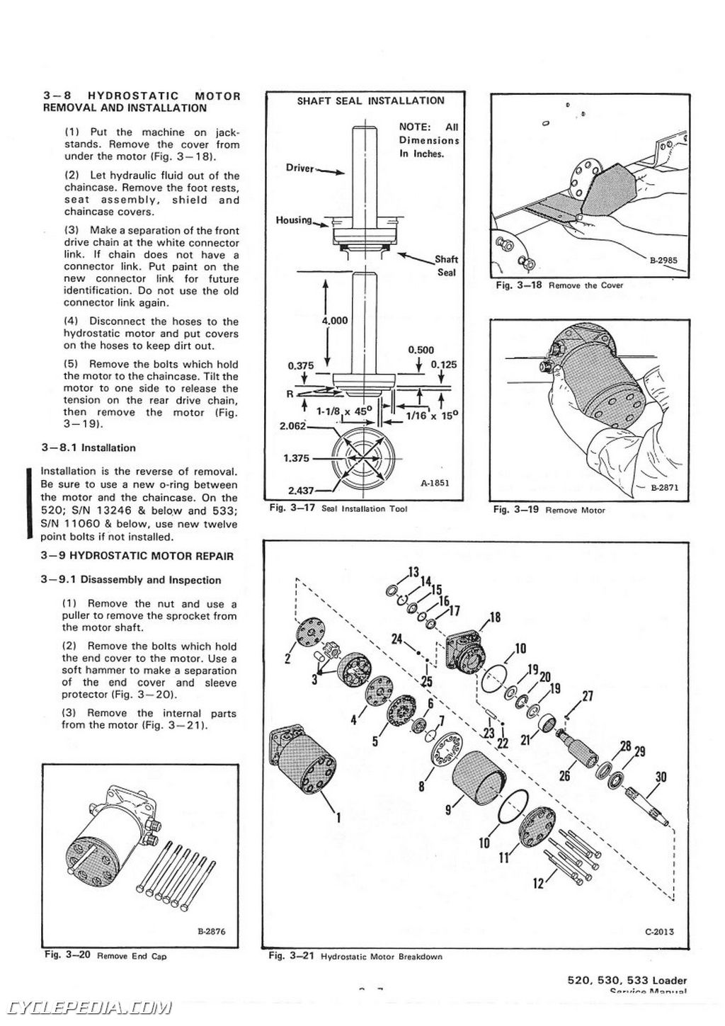 Bobcat 520 530 533 Skid Steer Service Manual