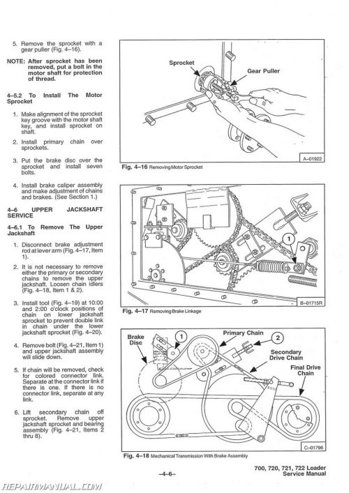 small resolution of bobcat 700 720 721 722 skid steer service manual rh repairmanual com bobcat model 720 schematic bobcat engine