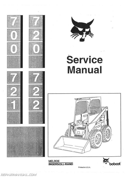 small resolution of bobcat 700 720 721 722 skid steer service manual jpg