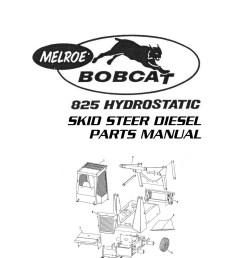 clark bobcat 825 hydrostatic skid steer diesel parts manualbobcat parts diagrams 14 [ 1024 x 1378 Pixel ]