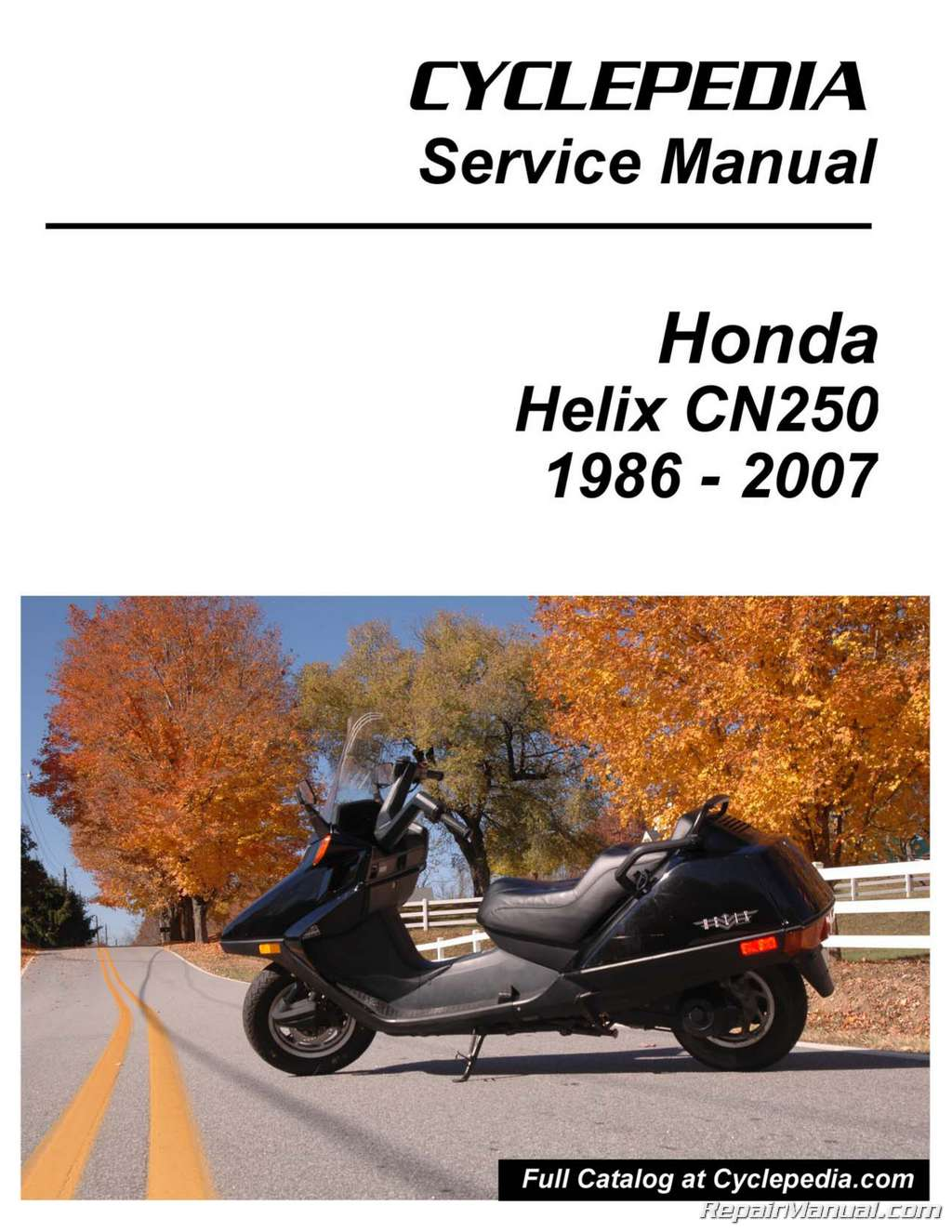 Step By Step Wiring Diagrams Honda Cn250 Helix Cyclepedia Scooter Printed Service Manual