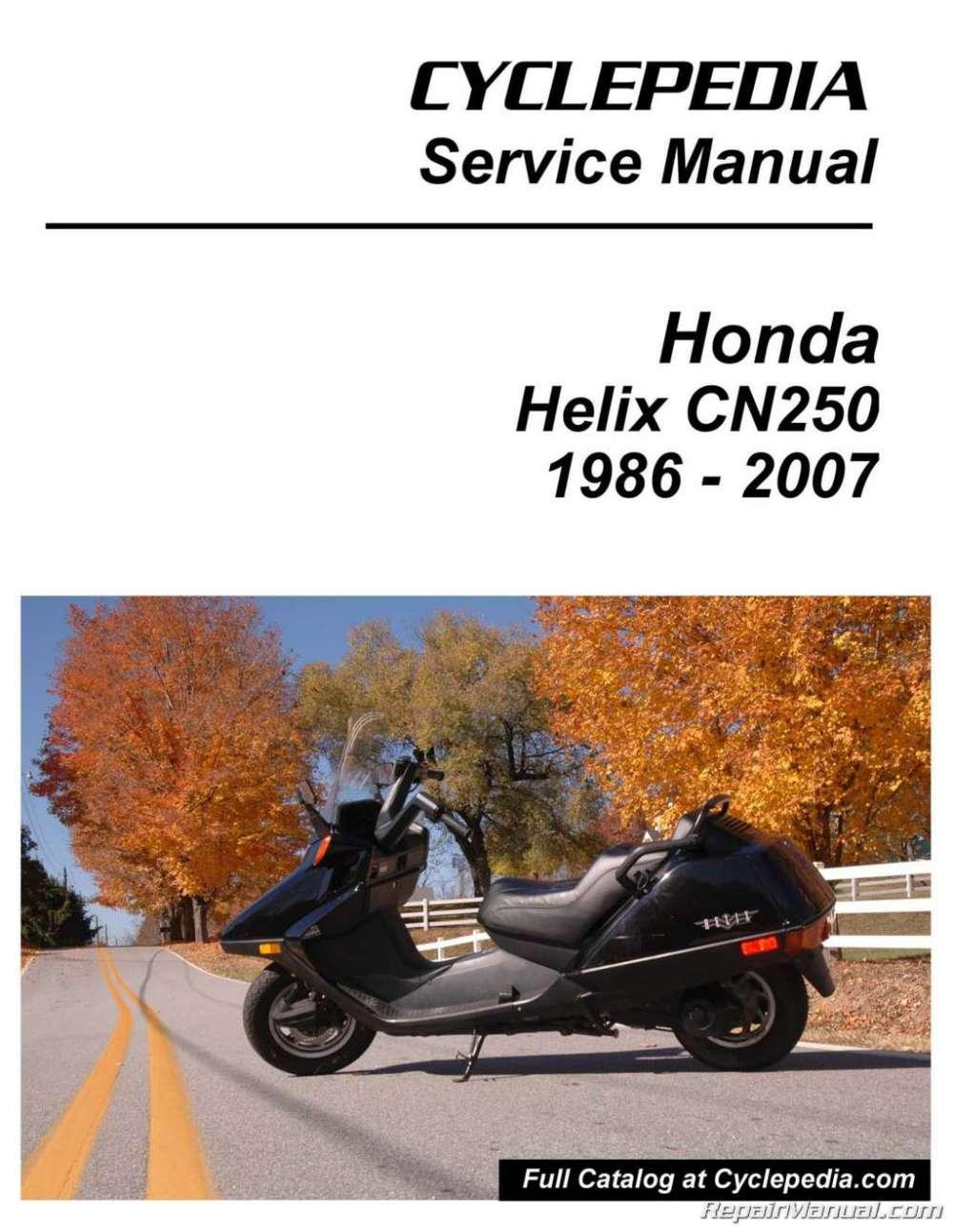 medium resolution of cyclepedia honda helix manual