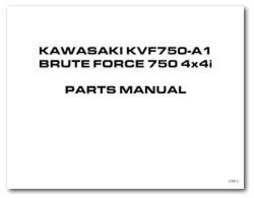 Parts Booklet for Kawasaki KVF750A Brute Force 4×4