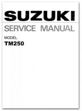 1972-1975 Suzuki TM250 Service Manual