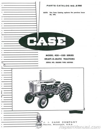Case-International 300 Owners Operators Manual