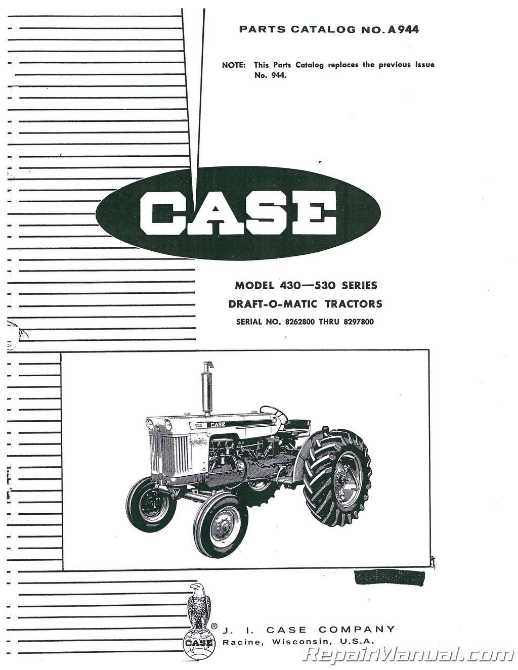 Case 430 And 530 Gas And Diesel Parts Manual
