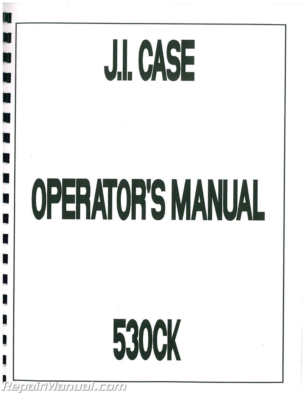 Case 530 CK GD Operators Manual