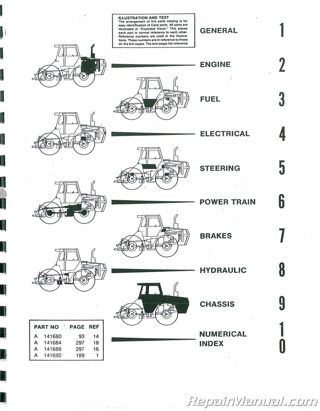Case Diesel 4490 Diesel 4WD Parts Manual