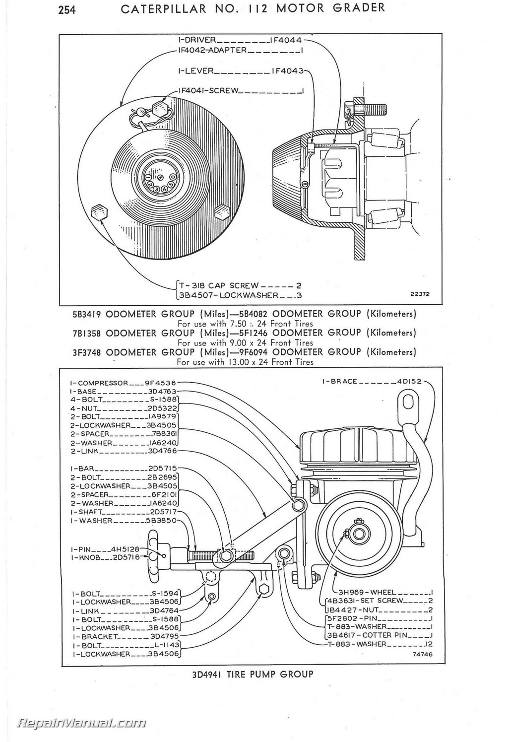 Cat Engine Schematics Caterpillar 112 Motor Grader Parts Manual