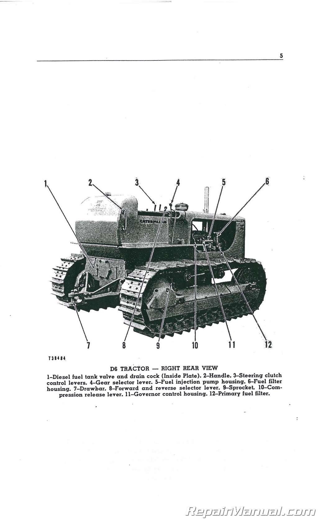 Caterpillar D6 D6B Crawler Operators Manual