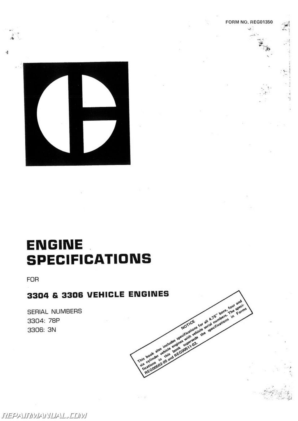 Caterpillar Grader #120G Service Manual