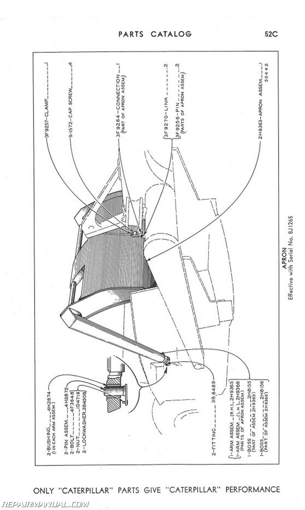 Caterpillar No 21 Scraper Parts Manual