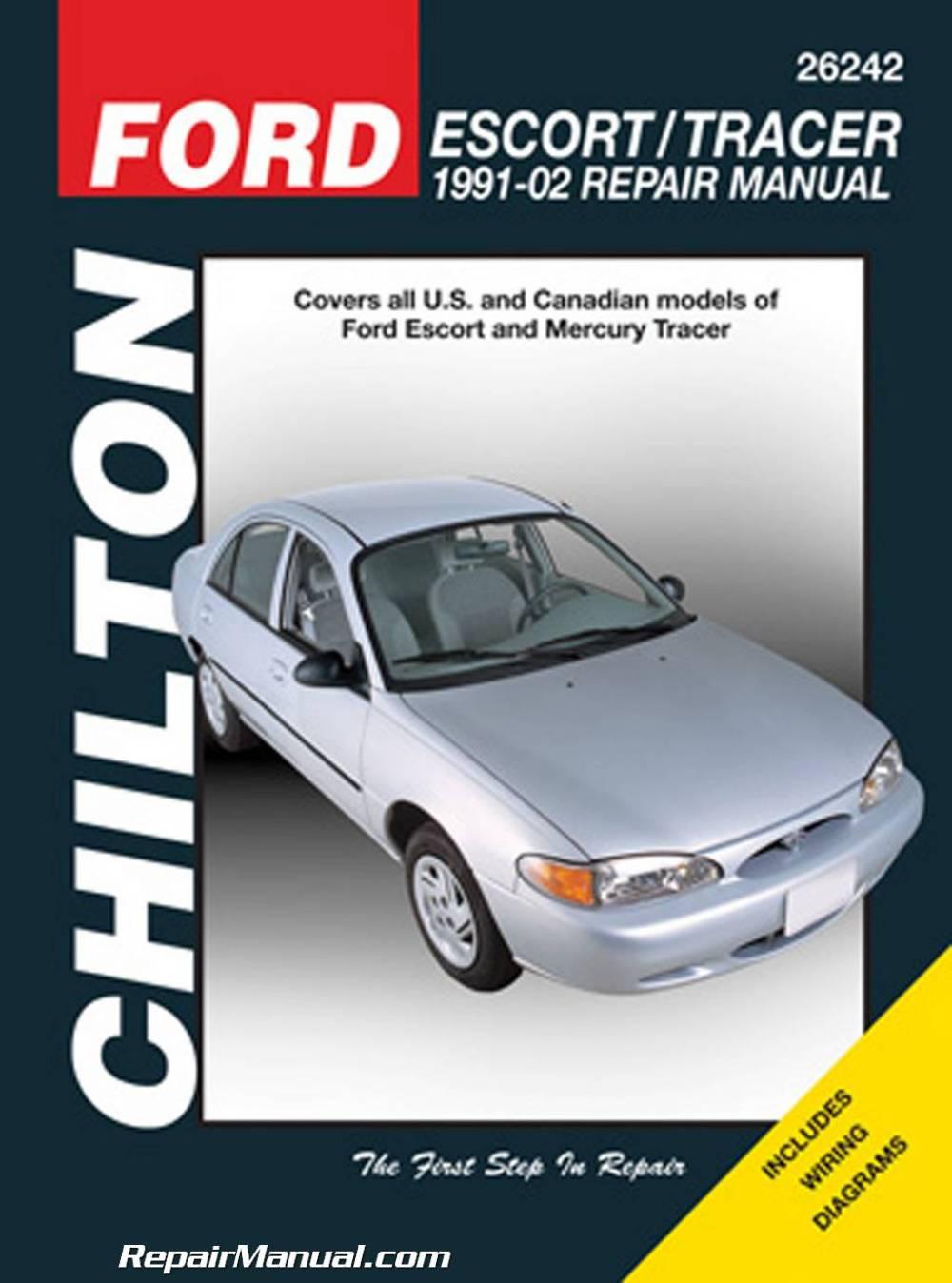 medium resolution of chilton ford escort mercury tracer 1991 2002 repair manual 1984 mercury tracer wiring diagram