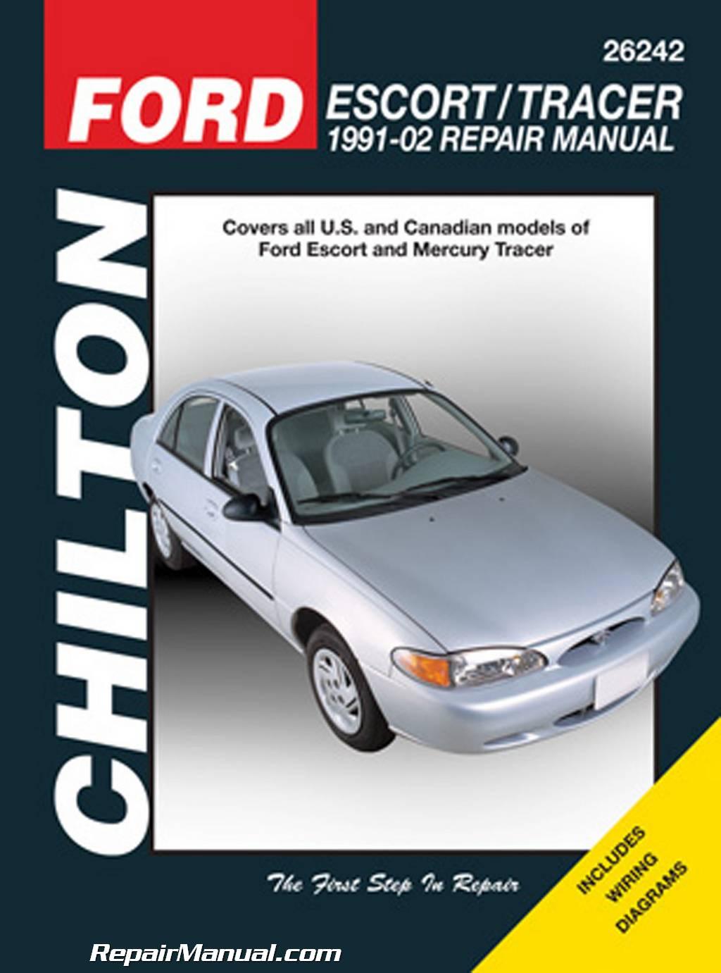 hight resolution of chilton ford escort mercury tracer 1991 2002 repair manual 1984 mercury tracer wiring diagram