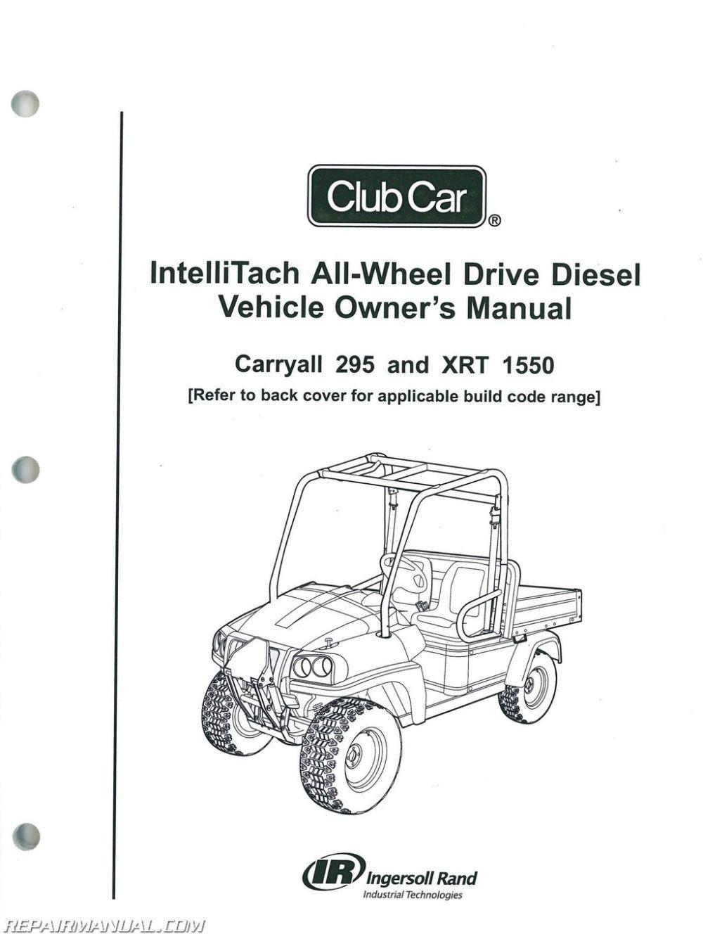 medium resolution of club car carryall 295 intellitach xrt 1550 intellitach