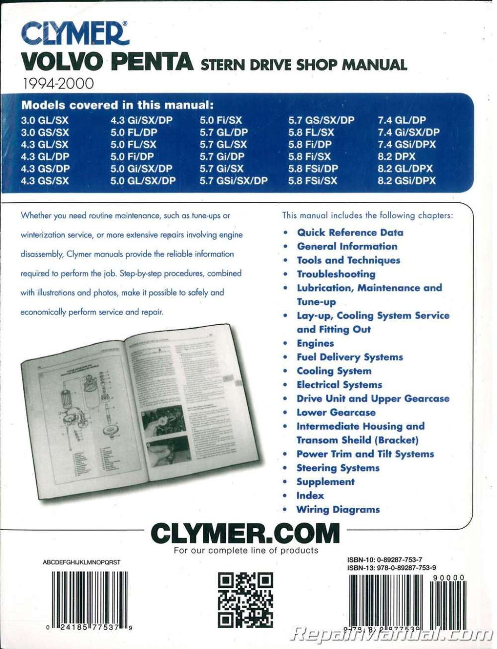 medium resolution of clymer 1994 2000 volvo penta