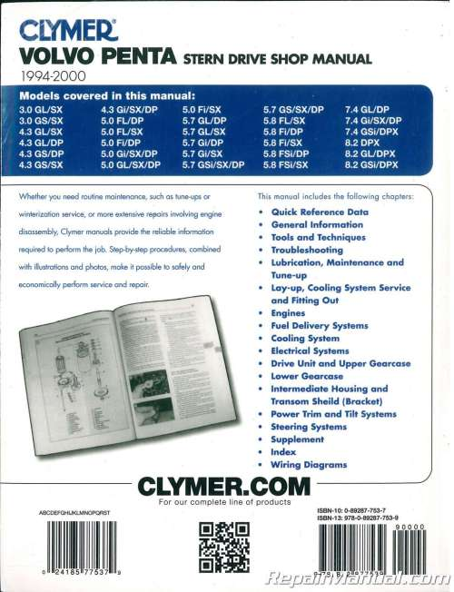 small resolution of clymer 1994 2000 volvo penta