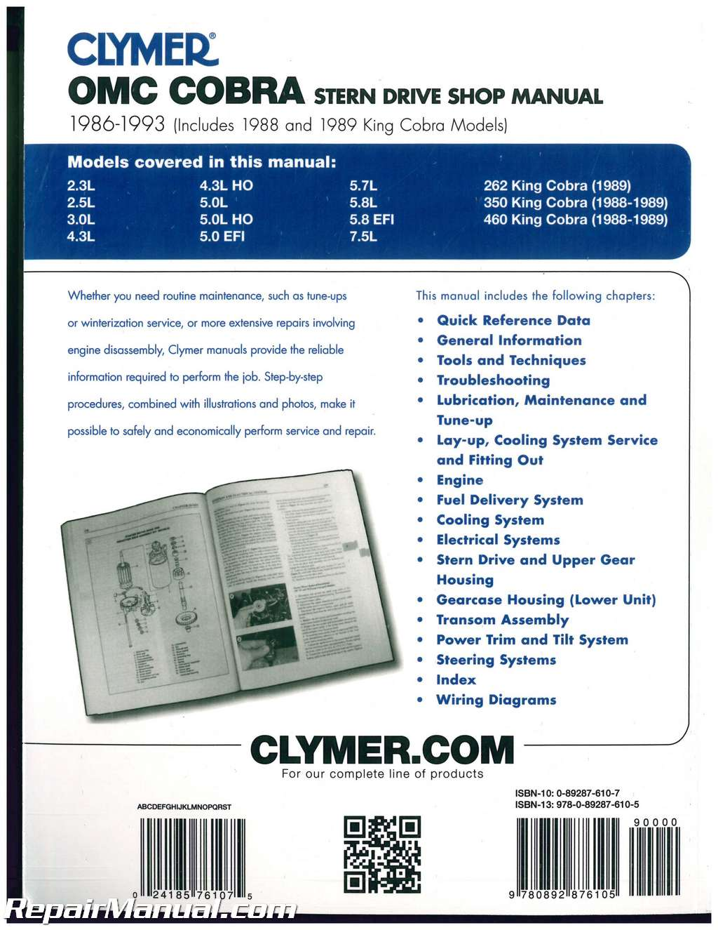 boat wiring diagrams manuals diagram for 1986 chevy truck clymer omc cobra 1993 stern drive engine repair