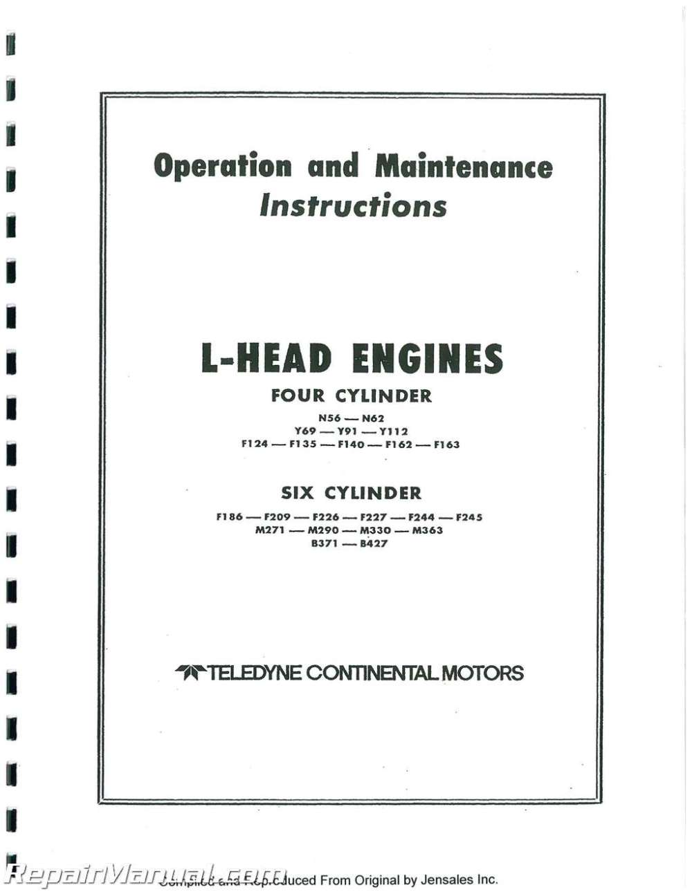 medium resolution of f 162 continental engine diagram wiring diagram databasecontinental red seal l head engine service manual f