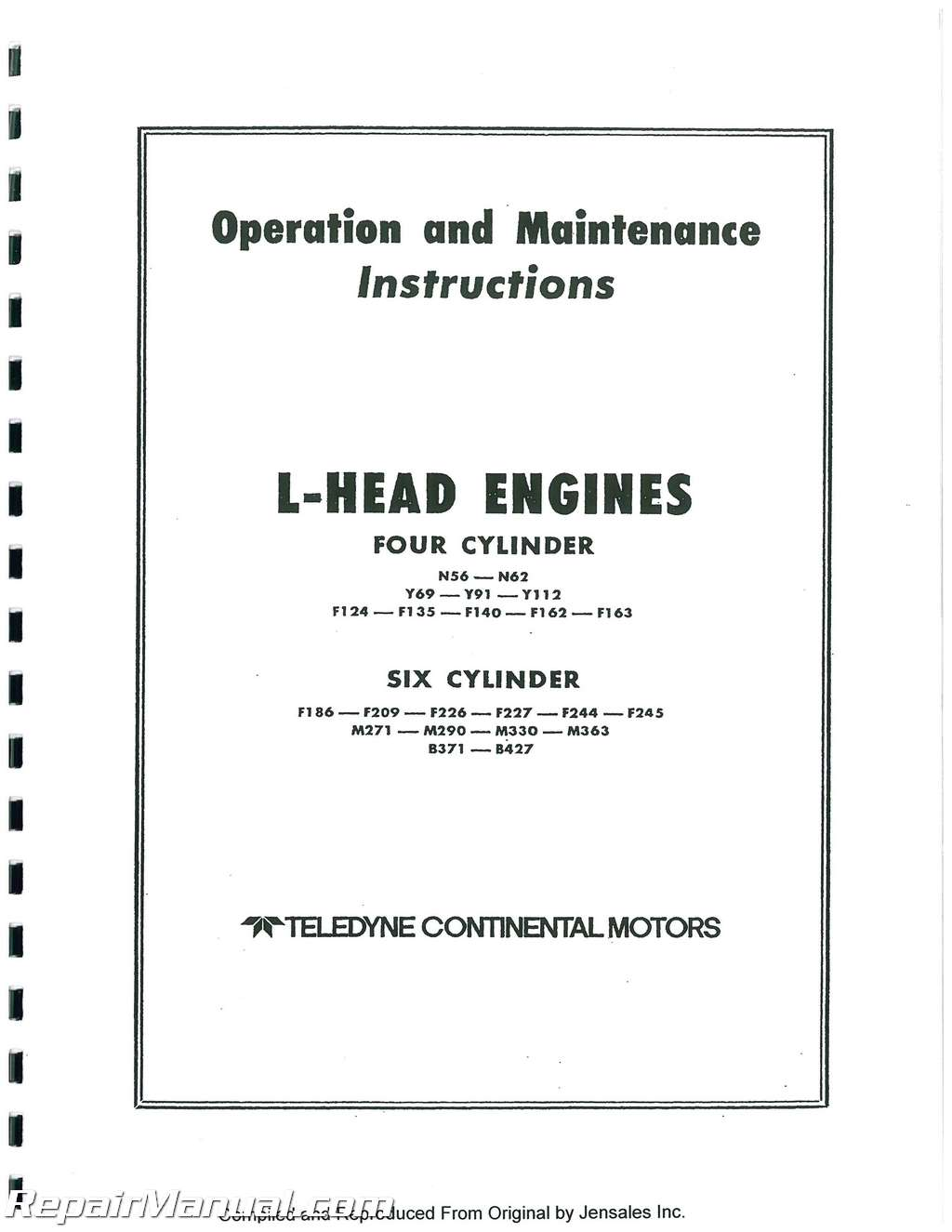 hight resolution of f 162 continental engine diagram wiring diagram databasecontinental red seal l head engine service manual f