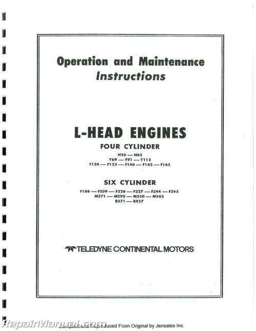 small resolution of f 162 continental engine diagram wiring diagram databasecontinental red seal l head engine service manual f