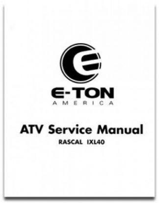 Eton AXL NXL TXL 50-90 ATV Service Manual