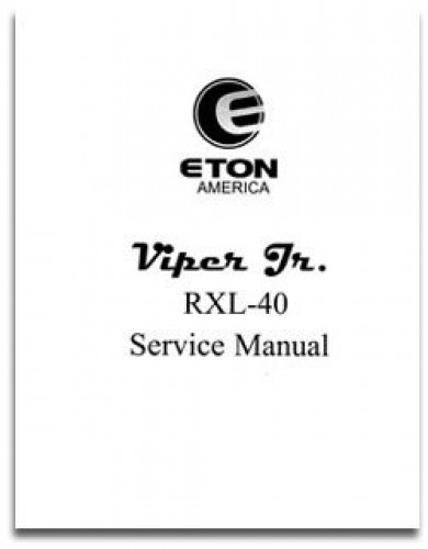 Eton Viper RXL40 Junior Service Manual