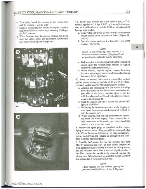 small resolution of used evinrude johnson 2 70 hp 2 stroke outboard boat shop manual 1995 1996 1997 1998