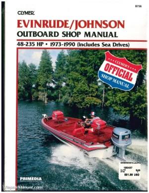 EvinrudeJohnson 48235 hp 19731990 Outboard Boat Repair