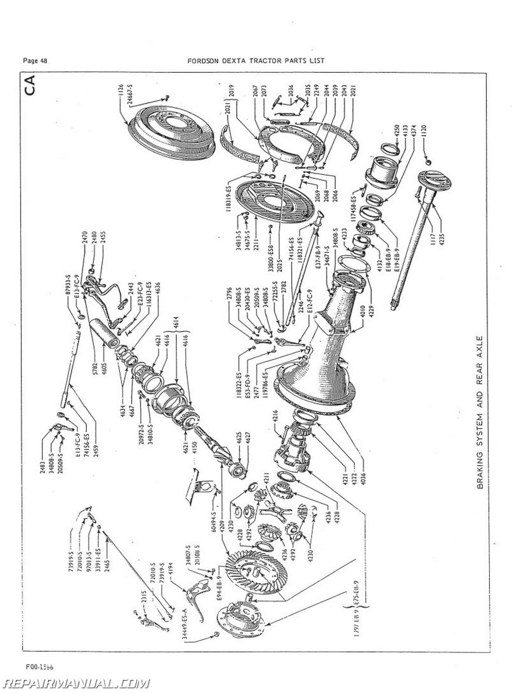 Fordson Dexta And Super Dexta Parts Manual
