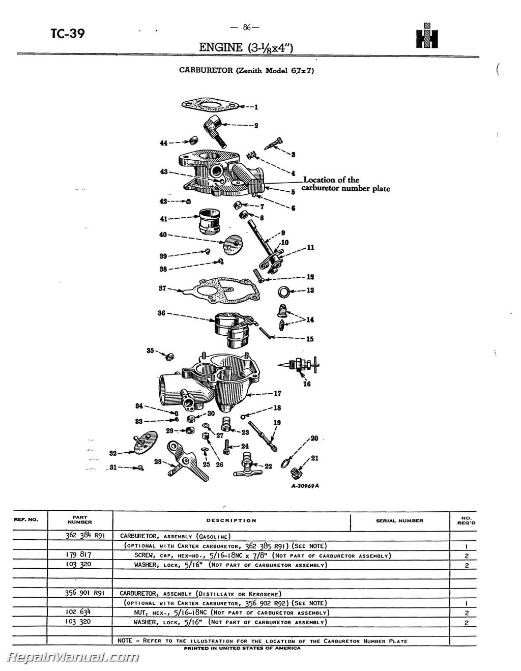Farmall Super A AV A 1 AV 1 Tractor Parts Manual_Page_4 farmall m 12v wiring diagram dolgular com  at crackthecode.co
