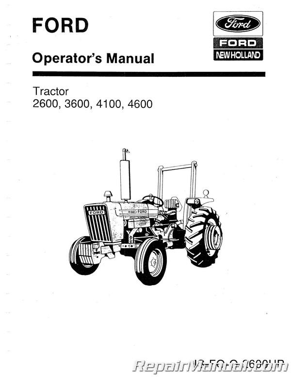 Ford 2600 3600 4100 4600 Operators Manual