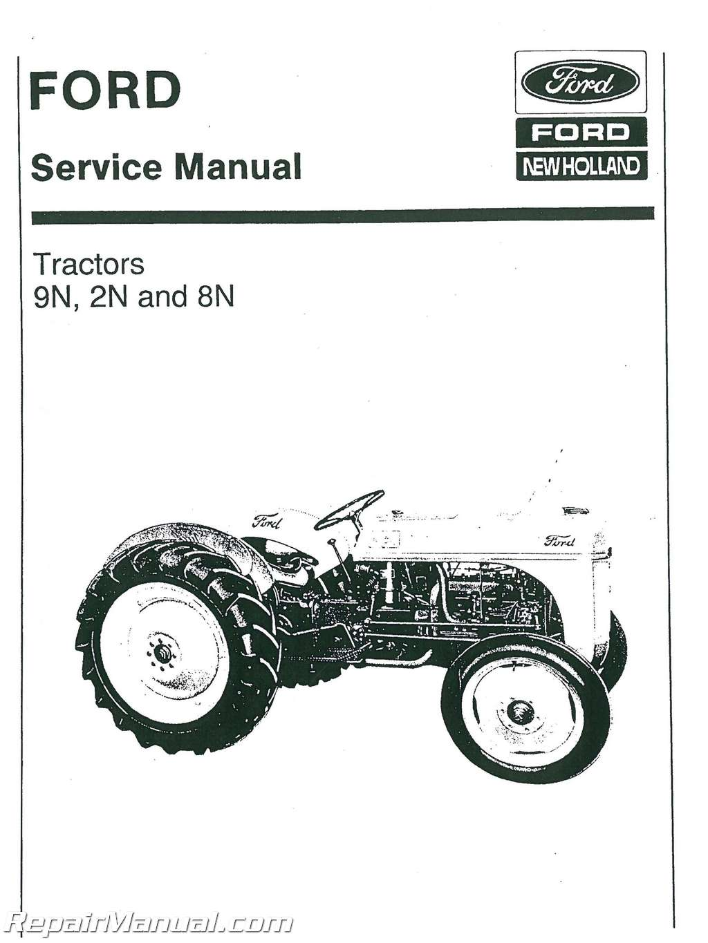 Ford 2N 8N and 9N Tractor Service Manual : JS-FO-S-2N-8N