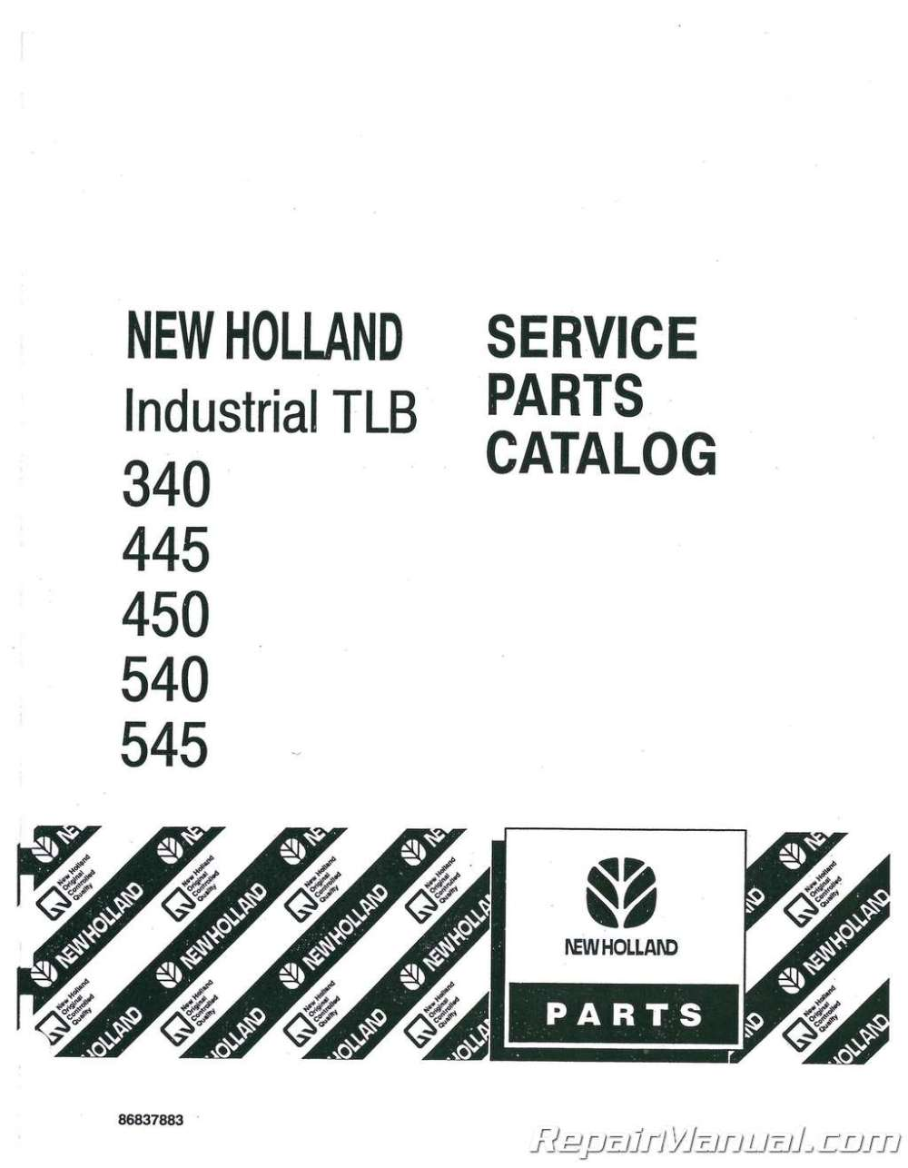 medium resolution of ford 340 445 450 540 545 tractor parts manual ford focus parts schematic ford parts schematic