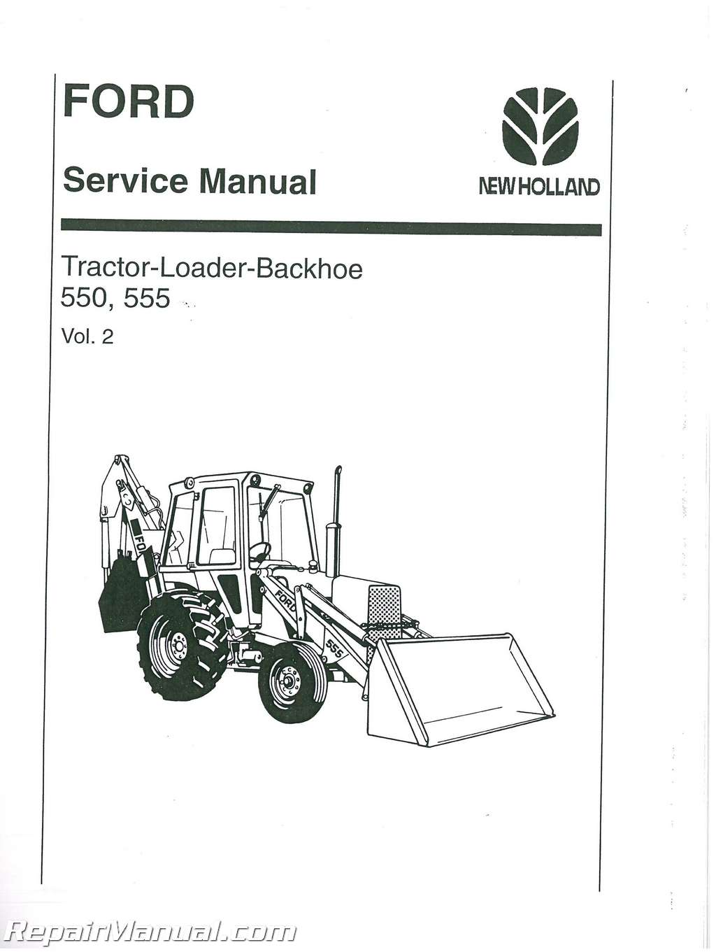 [WRG-1615] Ford 555d Backhoe Wiring Diagram