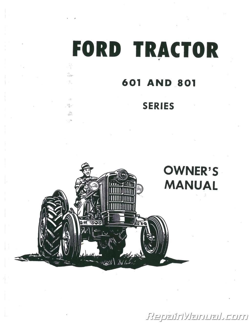 Ford 601-1801 Operators Manual