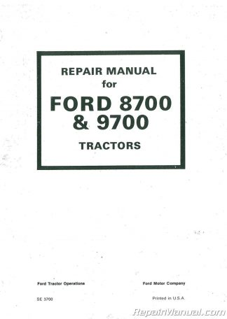 Ford 9600 Operators Manual