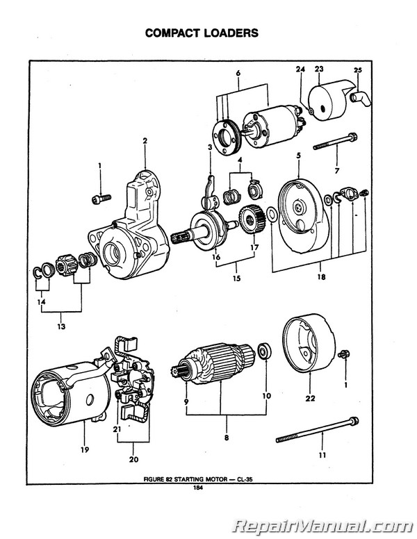 Ford CL35 CL45 CL55 CL65 Tractor Parts Manual