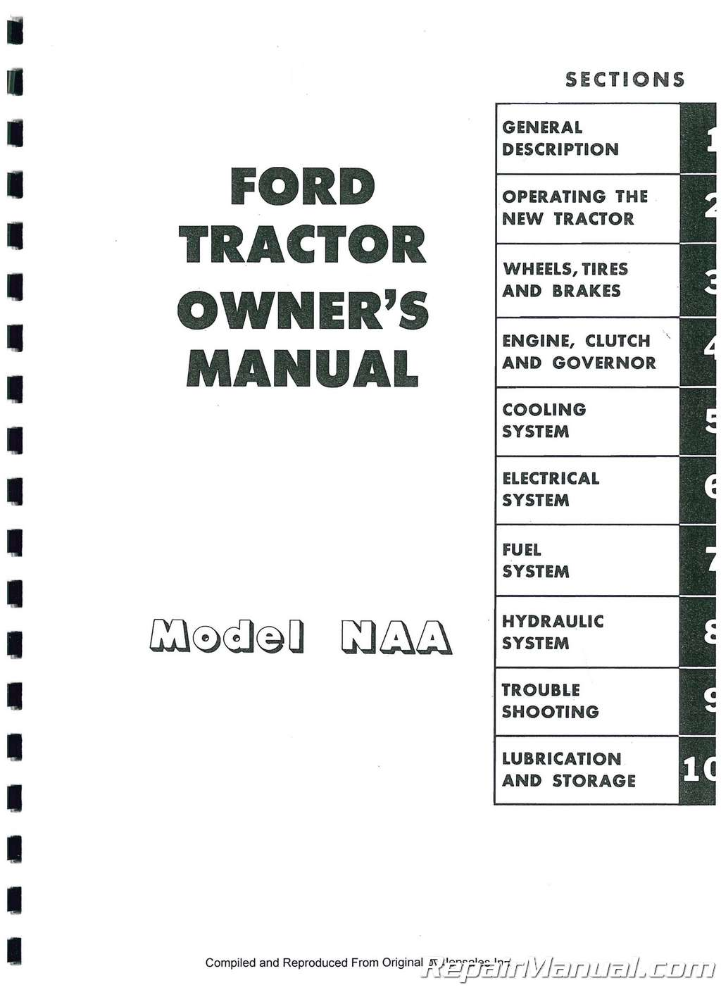 Ford NAA Jubilee Operators Manual
