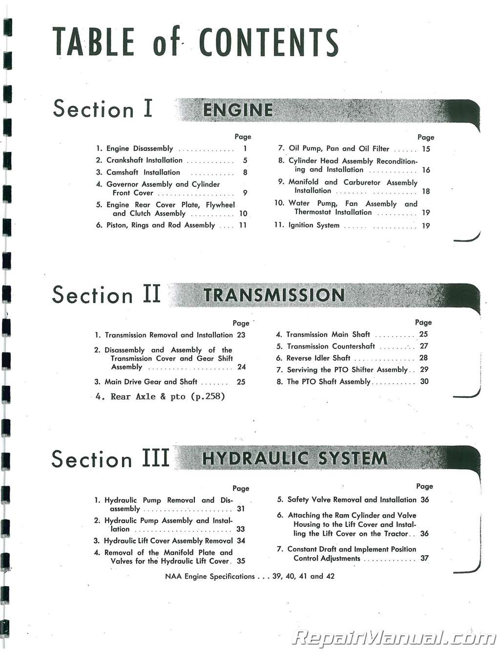 hight resolution of  array ford naa service manual rh repairmanual