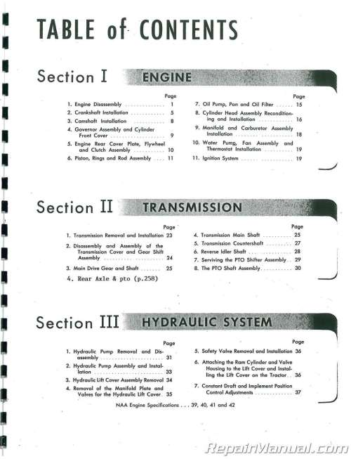 small resolution of  array ford naa service manual rh repairmanual
