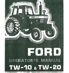 array ford tw10 tw20 tractor operators manual rh repairmanual  [ 1024 x 1325 Pixel ]