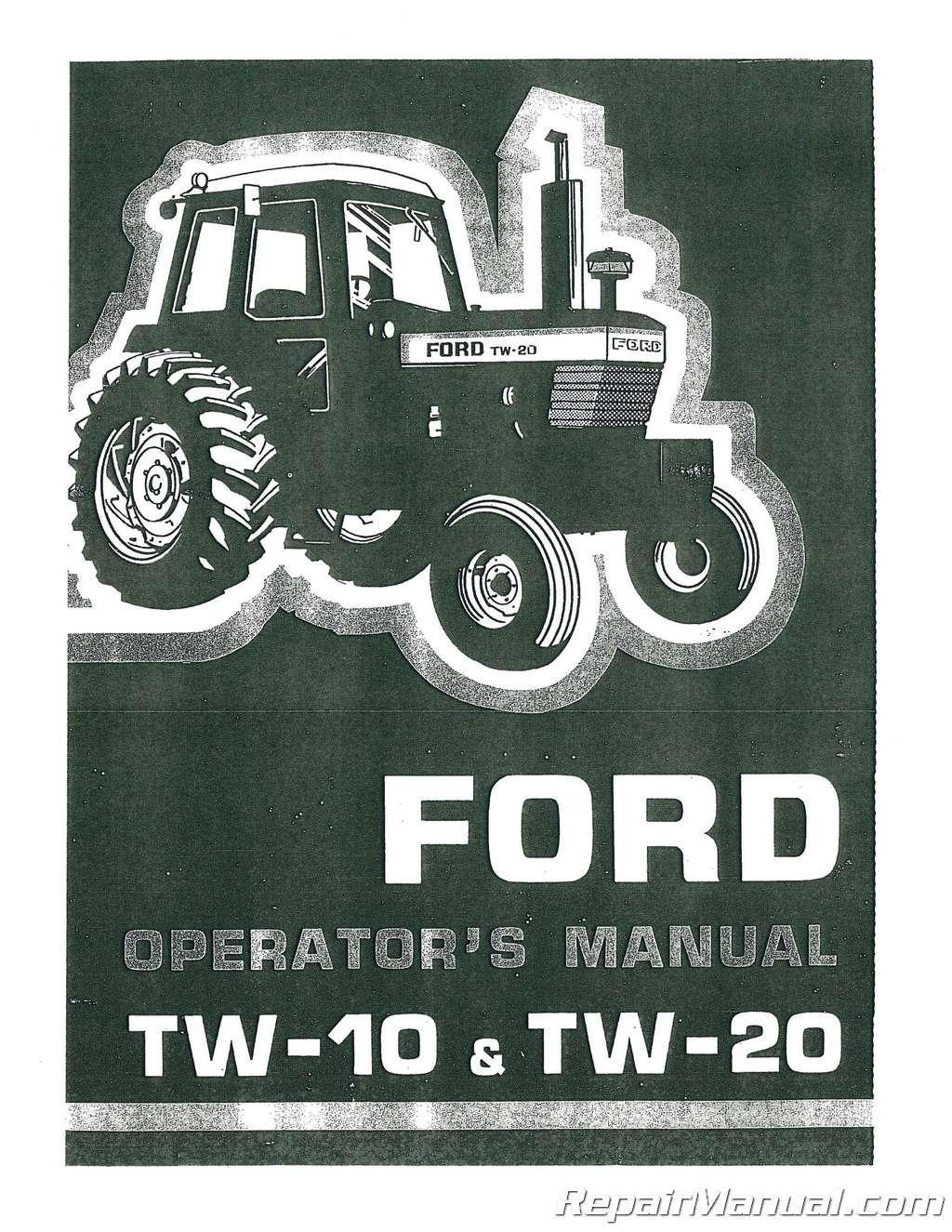 hight resolution of  array ford tw10 tw20 tractor operators manual rh repairmanual