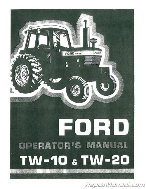 small resolution of  array ford tw10 tw20 tractor operators manual rh repairmanual