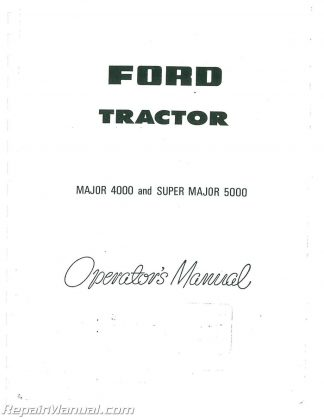 Fordson Dexta / Super Dexta Operators Manual