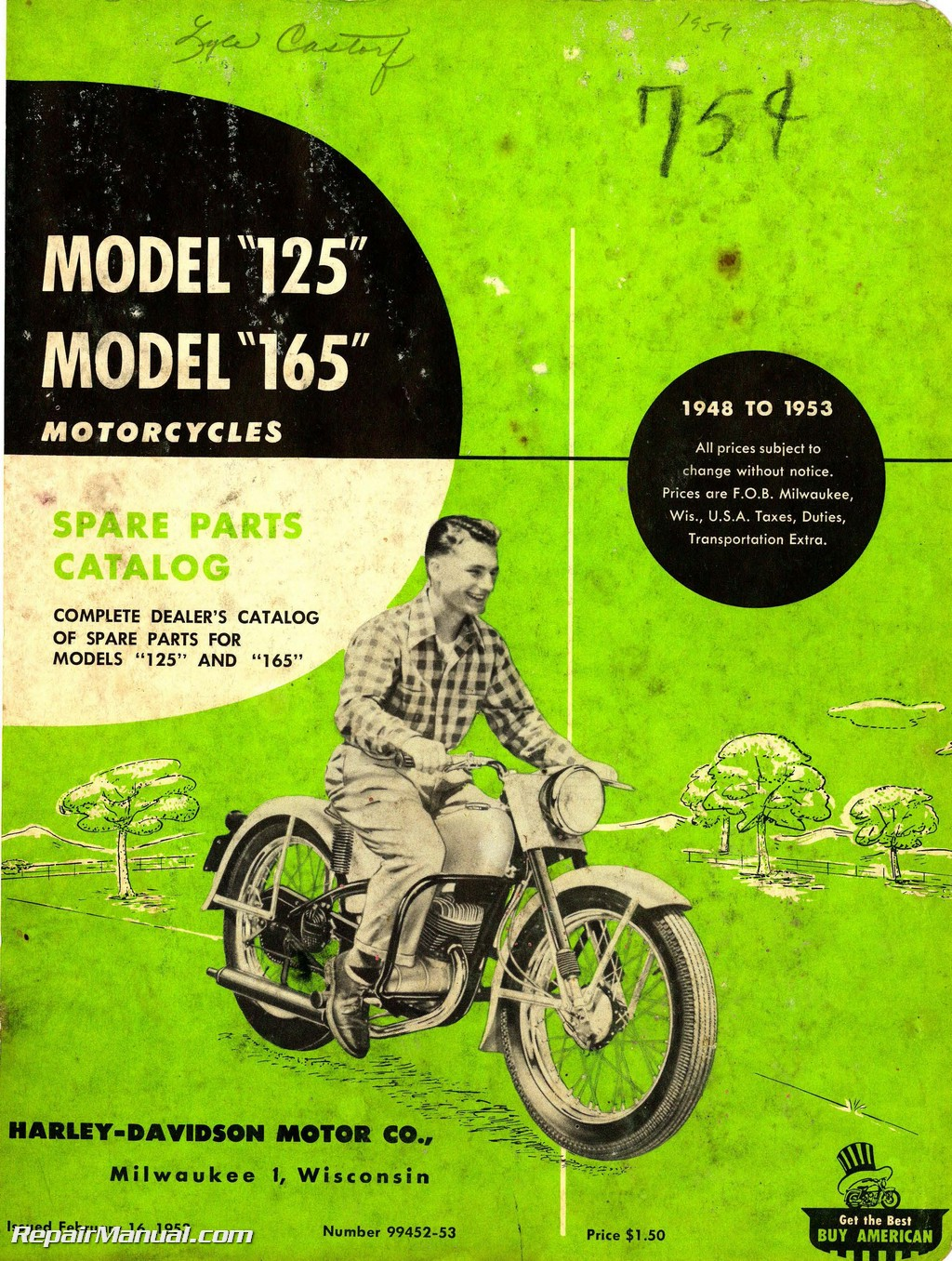 hight resolution of harley davidson 125 165 1948